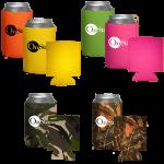 Camouflage & Neon Collapsible Koozies